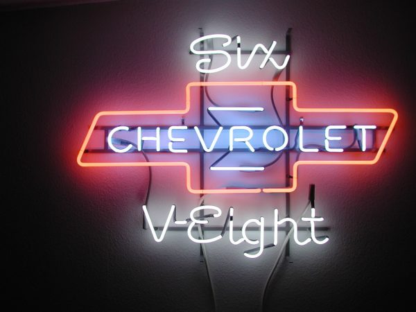 Chevrolet Dealer Neon Sign for The All New 1955 Chevy