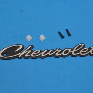 Chevy Grille Chevrolet Script, Emblem, 1964