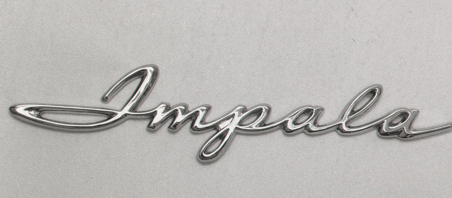 Chevy Quarter Panel Impala Scripts, 1961