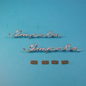 Chevy Dash & Rear Speaker Impala Scripts, 1958