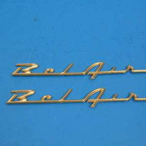 Chevy Quarter Panel Belair Scripts, Gold, Best, 1957
