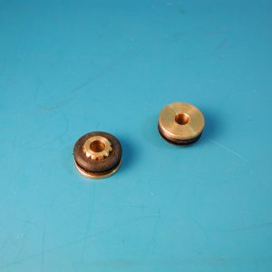 Chevy Wiper Arm Transmission Bushings, Brass & Rubber, 1958