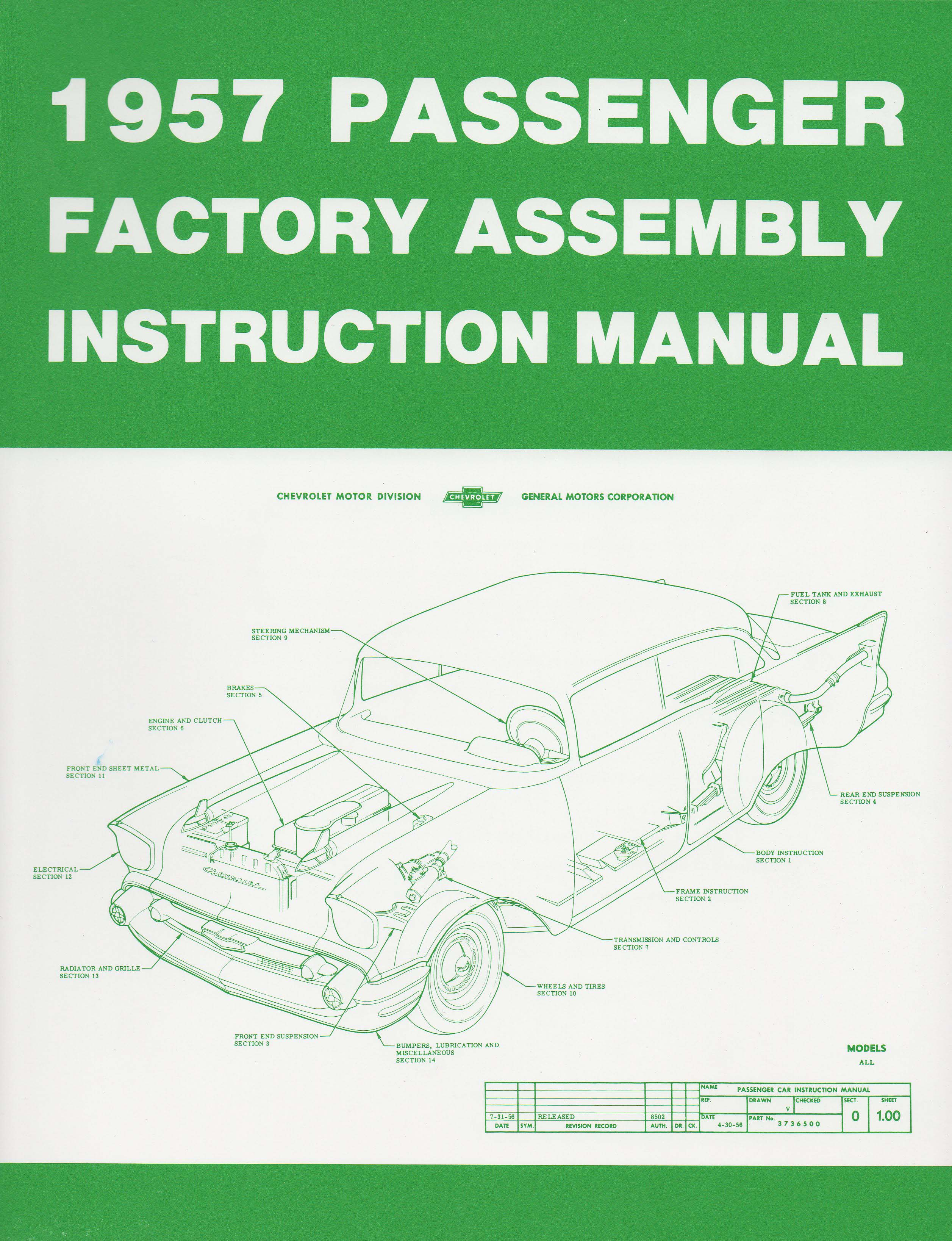 Chevrolet Assembly Manual, 1957