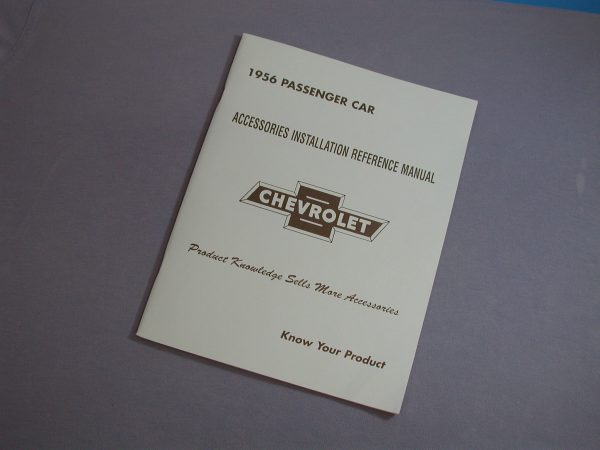 Chevy Accessory Installation Manual, 1956