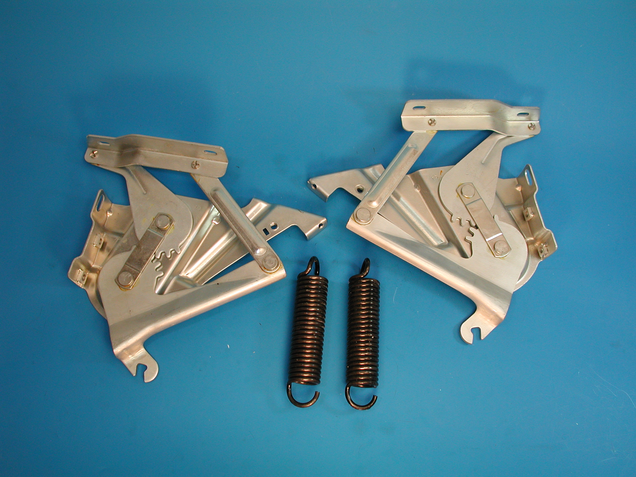 Chevy Hood Hinges And Spring Set  1957 Chevrolet
