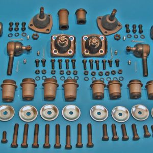 Chevy Front Suspension Rebuild Kit, Power Steering, with Urethane Bushings, 1955-1957