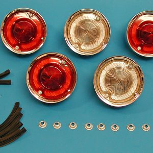 58 Chevy Taillight Assembly Set, Complete, Impala, 1958