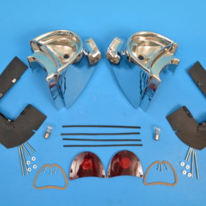 Chevy Taillight Housings, Complete, Nice, 1957