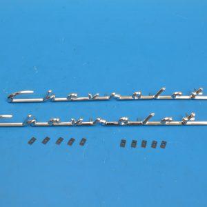Chevy Fender Chevrolet Scripts, Pair, 210 & 150, 1955
