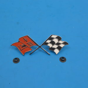 Chevy Continental Kit Cross Flags, 1959-1960