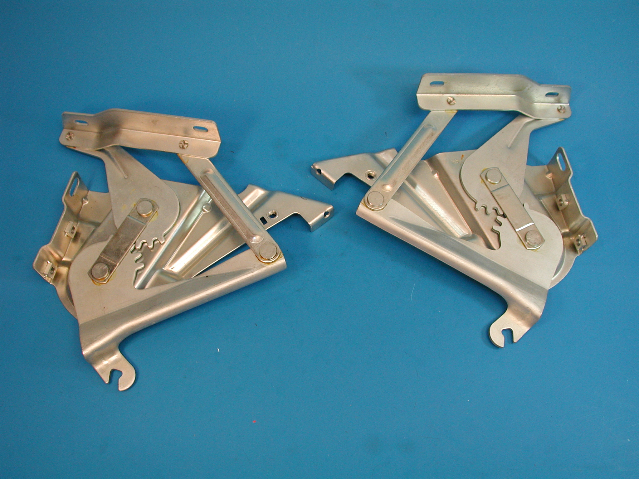 Chevy Hood Hinge Assemblies, 1957 Cad Plated